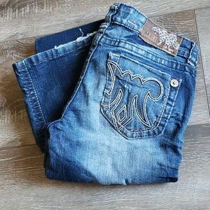 Mek DNM stitched dark wash jeans 26x34 bootcut